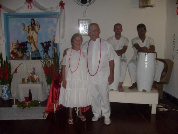 Dirigente: Ivo de Carvalho e Mãe Pequena: Helenice de Carvalho - Fundadores da Tenda