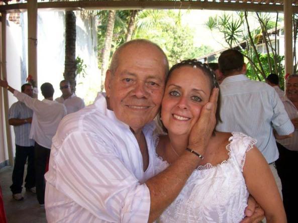 Dirigente Ivo de Carvalho e a Noiva Renata