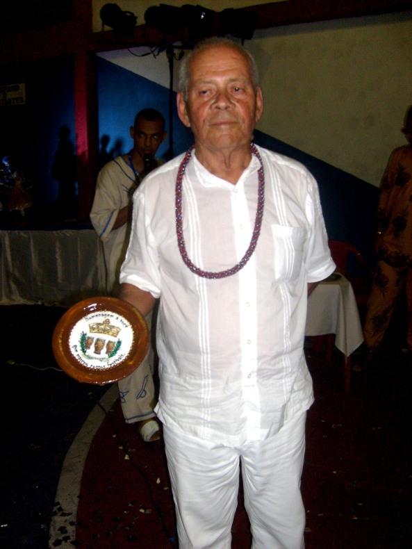 Ivo de Carvalho - Dirigente da Tenda no momento que recebeu a homenagem