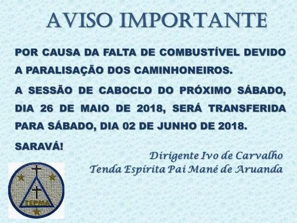 CANCELAMENTO DE SESSÃO